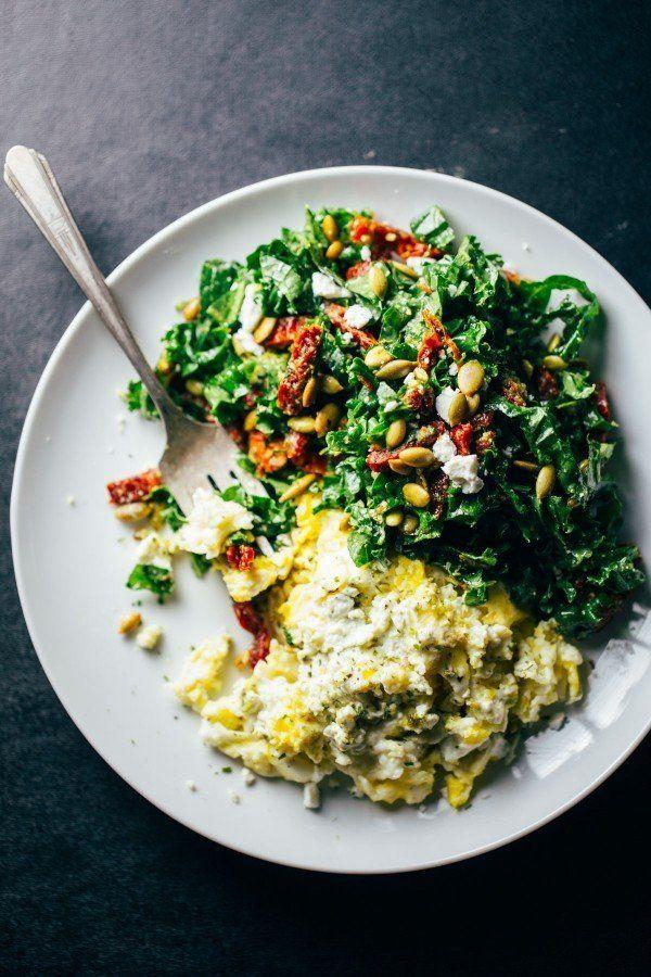 "<strong>Get the <a href=""http://pinchofyum.com/goat-cheese-scrambled-eggs-pesto-veggies"" target=""_blank"">Goat Cheese Scrambled Eggs recipe</a>&nbsp;from Pinch of Yum</strong>"
