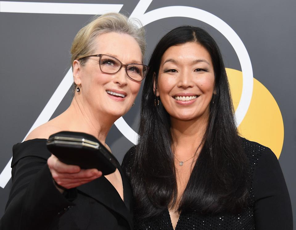 """<a href=""""https://www.domesticworkers.org/ai-jen-poo"""" target=""""_blank"""">Ai-jenPoo,</a>who attended the event with Meryl Streep, has long been an advocate for domestic workers and those involved in family care ― fields largely dominated by women and often excluded from federal and state labor laws.<br /><br />Currentlythe director of the National Domestic Workers Alliance and co-director of the campaign <a href=""""https://caringacross.org/"""" target=""""_blank"""">Caring Across Generations</a>, Poo spent years as an organizer, connecting workers with proper legal assistance,facilitating communication among laborers, and raising awareness about issues facingdomestic workers.<br /><br />Poo spearheaded a legislative campaign that becamea major push behind the enactment of the Domestic Workers' Bill of Rights in New York,guaranteeing certain protections to domestic workers. The activistwasawarded a prestigious<a href=""""https://www.macfound.org/fellows/924/"""" target=""""_blank"""">MacArthur Fellowship</a>in 2014 andwas named one ofTime's 100 Most Influential People in the World in 2012."""