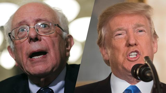Sen. Bernie Sanders and President Trump (Photos: Chip Somodevilla/Getty Images, Saul Loeb/AFP/Getty Images)