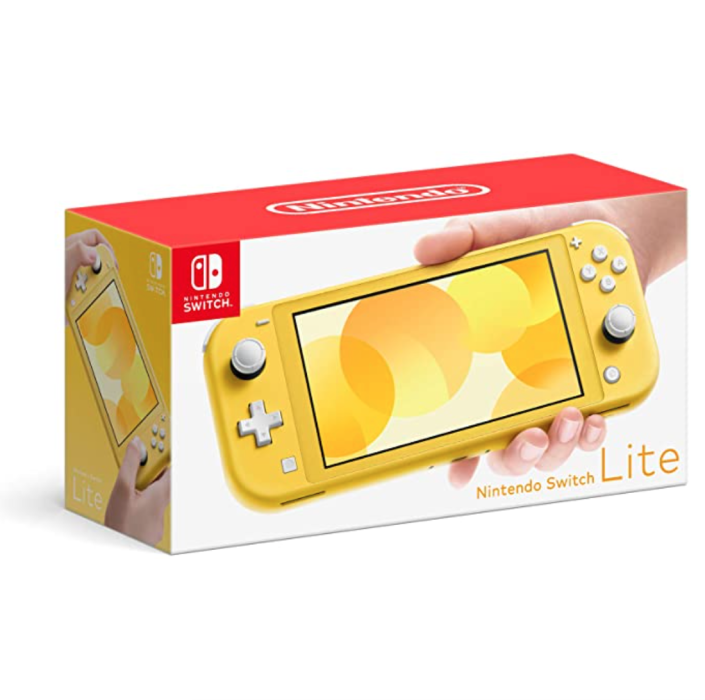 """<p><strong>Nintendo</strong></p><p>amazon.com</p><p><strong>$214.39</strong></p><p><a href=""""https://www.amazon.com/dp/B07VKJ57TW?tag=syn-yahoo-20&ascsubtag=%5Bartid%7C2139.g.37612148%5Bsrc%7Cyahoo-us"""" rel=""""nofollow noopener"""" target=""""_blank"""" data-ylk=""""slk:BUY IT HERE"""" class=""""link rapid-noclick-resp""""> BUY IT HERE</a></p><p>The Nintendo Switch Lite is lightweight and compact, but packs some serious gaming capabilities. Made for handheld play, the device comes in several killer colors with a pretty reasonable price tag, as far as gaming systems go.</p>"""