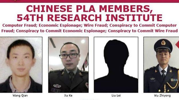 FBI Wanted Notice Against The Indicted Chinese Military Personnel