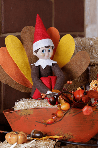"""<p>Who knew Turkey Day could get even better? If you're one of the families who enjoys welcome back their Elf as soon as Thanksgiving Day arrives, you'll love this holiday-ready idea. </p><p><strong>Get the tutorial at <a href=""""https://www.elfontheshelf.com/blog/epic-elf-returns"""" rel=""""nofollow noopener"""" target=""""_blank"""" data-ylk=""""slk:The Elf on the Shelf"""" class=""""link rapid-noclick-resp"""">The Elf on the Shelf</a>.</strong></p>"""