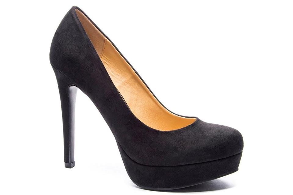 black pumps, round toe, heels, chinese laundy
