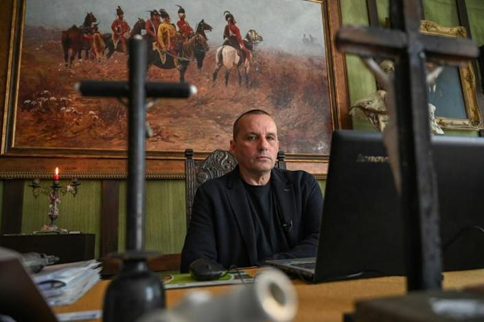 'We were betrayed by the West,' Csaba Pal Szabo, director of a state-financed Trianon Museum, told AFP (AFP Photo/ATTILA KISBENEDEK)