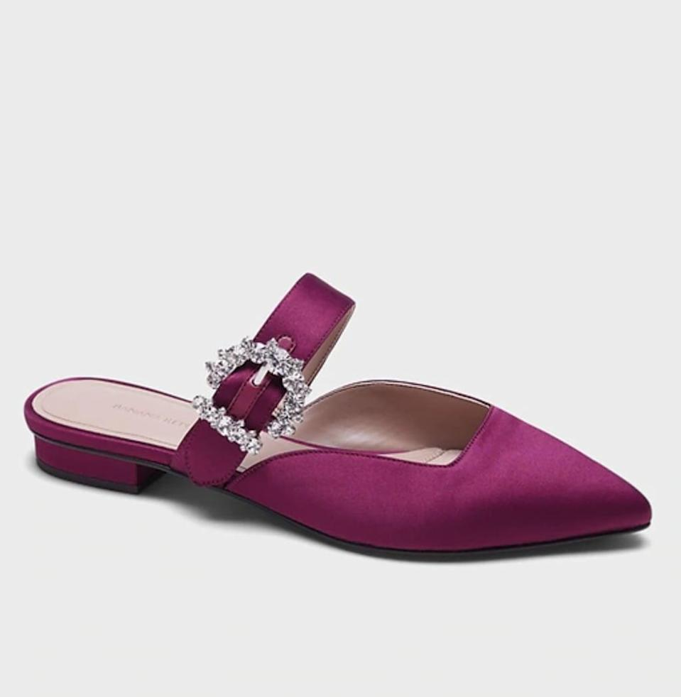 <p>These <span>Banana Republic Satin Pointy-Toe Flats</span> ($97, originally $128) are so glam, you'll be excited to step out in them.</p>