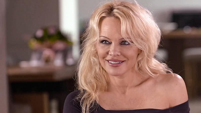 Pamela Anderson appears in a 2018 interview with 60 Minutes. Photo: Nine
