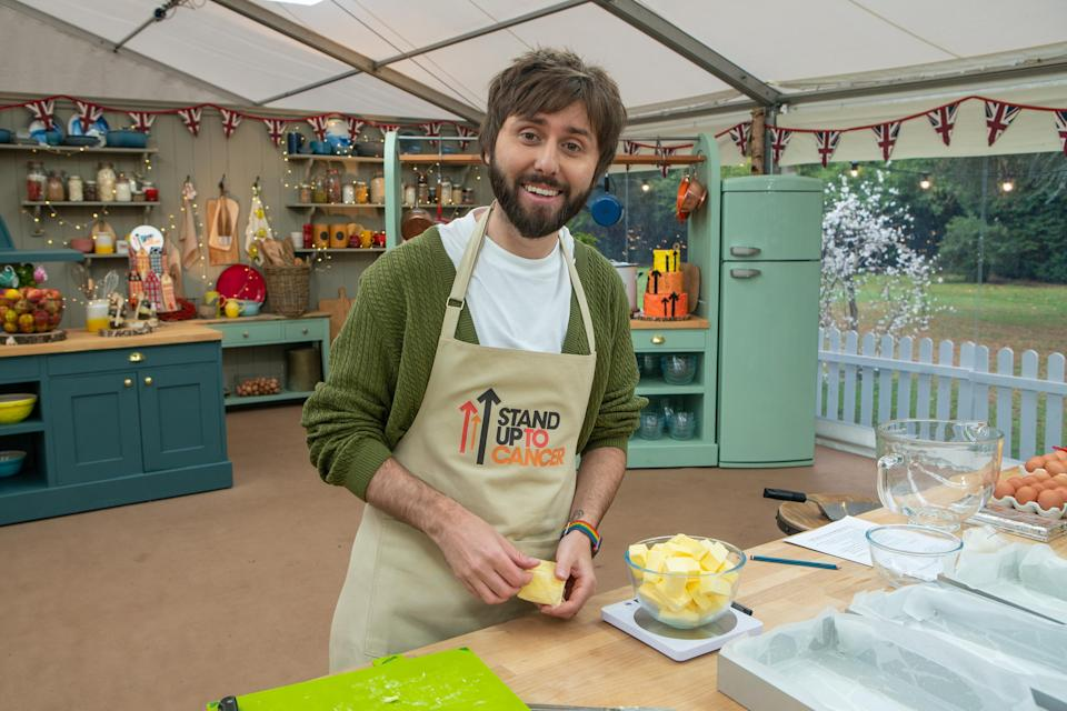 James Buckley made a toilet cake filled with chocolate poos. (Channel 4/Mark Bourdillon)