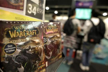Copies of World of Warcraft: Mists of Pandaria video game published by Activision Blizzard, owned by Vivendi, are displayed in a shop in Rome, October 16, 2012. REUTERS/Tony Gentile