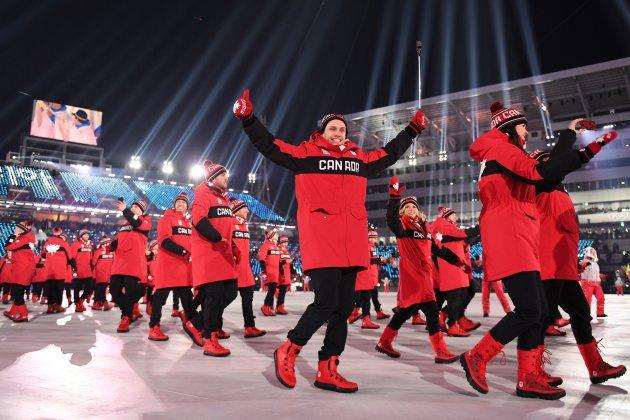 Team Canada at the opening ceremony of the Pyeongchang 2018 Winter Olympic Games.