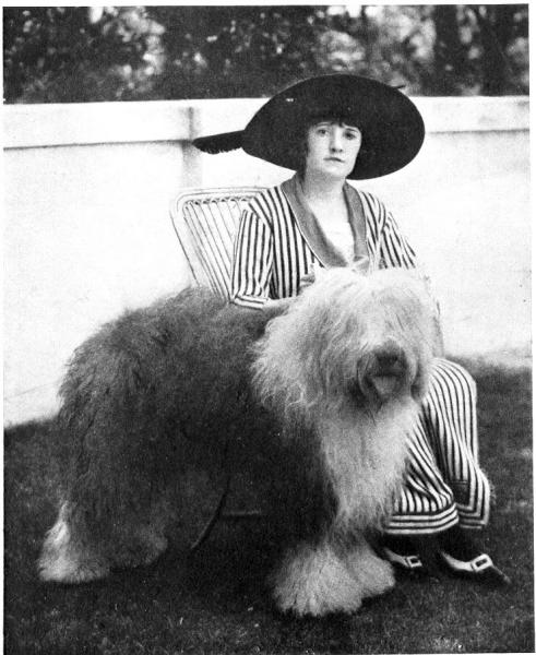 This 1914 publicity photo provided by the Westminster Kennel Club shows the 1914 Westminster Best In Show winner, Slumber. Sheepdogs have been recognized by the American Kennel Club since the late 1800's and won best in show at Westminster in 1914 and 1975. Breeders in the United States and England are concerned about the drop in the number of purebred sheepdog puppies registered in the two countries each year, as more owners choose smaller dogs like pocket pets and designer puppies. (AP Photo/Westminster Kennel Club)