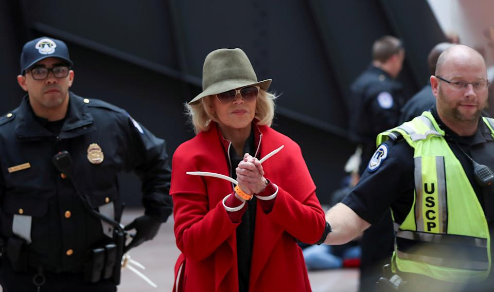 Fonda's recent arrests came up during the Trump rally. (Photo: REUTERS/Siphiwe Sibeko)