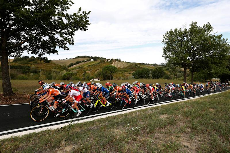 The peloton at the World Championships