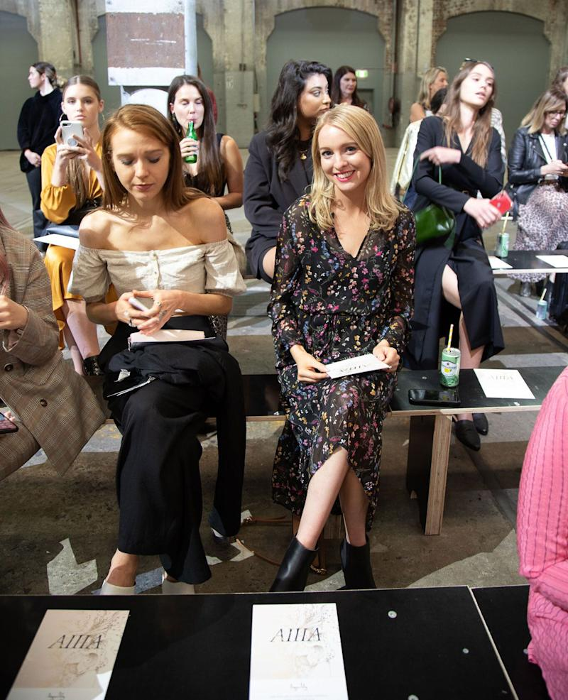 Sitting front row at Fashion Week Australia