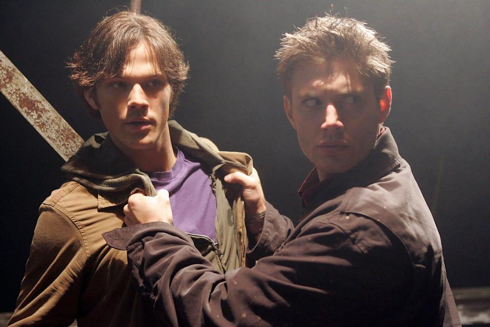 """Jared Padelecki (left) and Jensen Ackles star in the 2005 pilot episode of """"Supernatural,"""" which originally aired on the now-defunct WB network."""