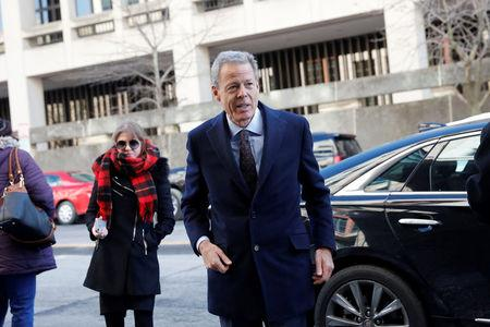 Time Warner CEO Jeff Bewkes arrives ahead of arguments in the trial at U.S. District Court in Washington