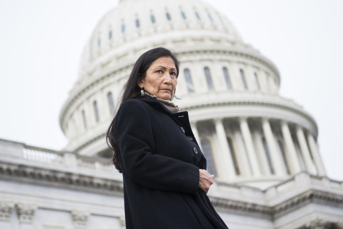 Rep. Deb Haaland, D-N.M. in 2019. (Tom Williams/CQ Roll Call via Getty Images)