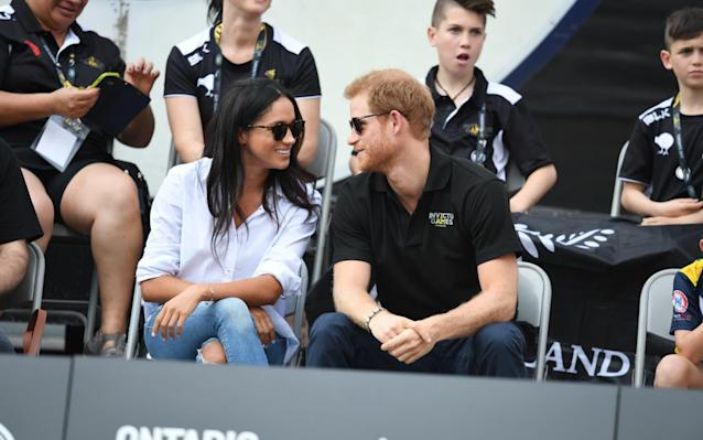 Prince Harry and Meghan Markle attend the Wheelchair Tennis at the Invictus Games - James Whatling Photography