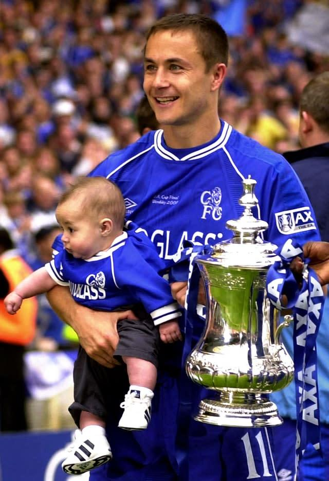 Dennis Wise won two FA Cups with Chelsea and one with Wimbledon (Rebecca Naden/PA)