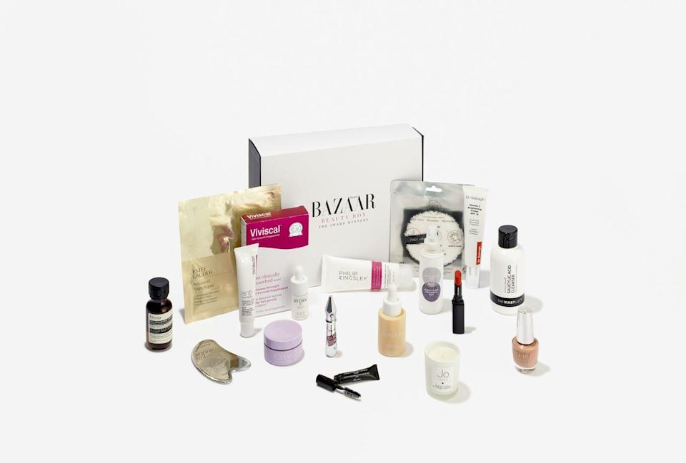 """<p>Hand-picked by the Harper's Bazaar beauty editors, this is a treasure trove of top products from the likes of Estée Lauder, Dr Barbara Sturm, Aesop, Guerlain and The Inkey List worth £510, plus a bonus: a 12 month Harper's Bazaar subscription. As it's a beauty box rather than a traditional style advent calendar, you'll have to ration yourself – no mean feat when the goodies are this glamorous. £125, <a href=""""https://www.hearstmagazines.co.uk/harpers-bazaar-beauty-box-awards-website"""" rel=""""nofollow noopener"""" target=""""_blank"""" data-ylk=""""slk:hearstmagazines.co.uk"""" class=""""link rapid-noclick-resp"""">hearstmagazines.co.uk</a></p>"""