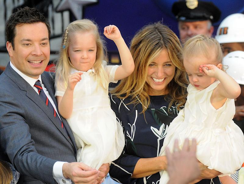 """Jimmy Fallon and his family are all """"freaking out"""" about his Super Bowl commercial."""