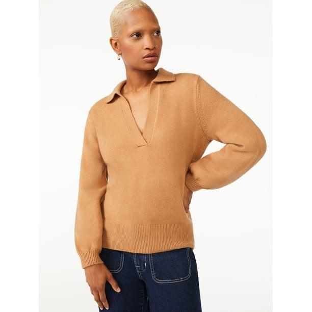 <p>If the <span>Free Assembly Women's V-Neck Polo Sweater</span> ($26) looks familiar, that's because everyone's wearing collared silhouettes this season.</p>