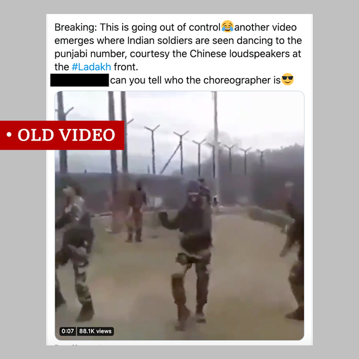 Old video of Indian army dancing to Punjabi music