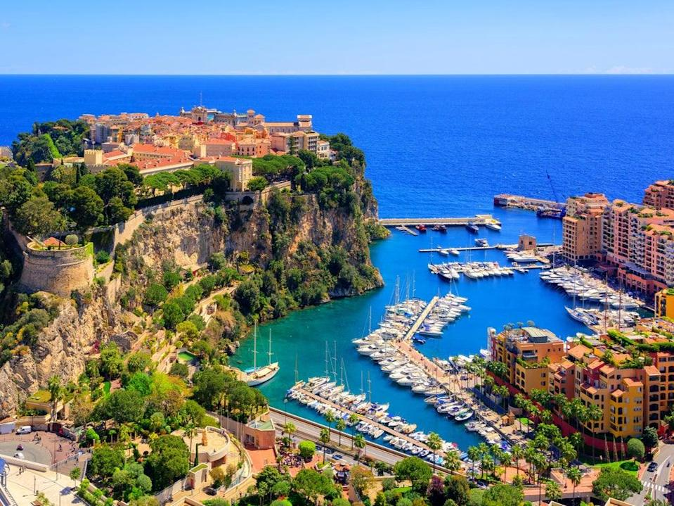 <p>Height of luxury: An aerial view of Monoco's Old Town and Prince's Palace, overlooking the Mediterranean Sea</p> (Getty/iStock)