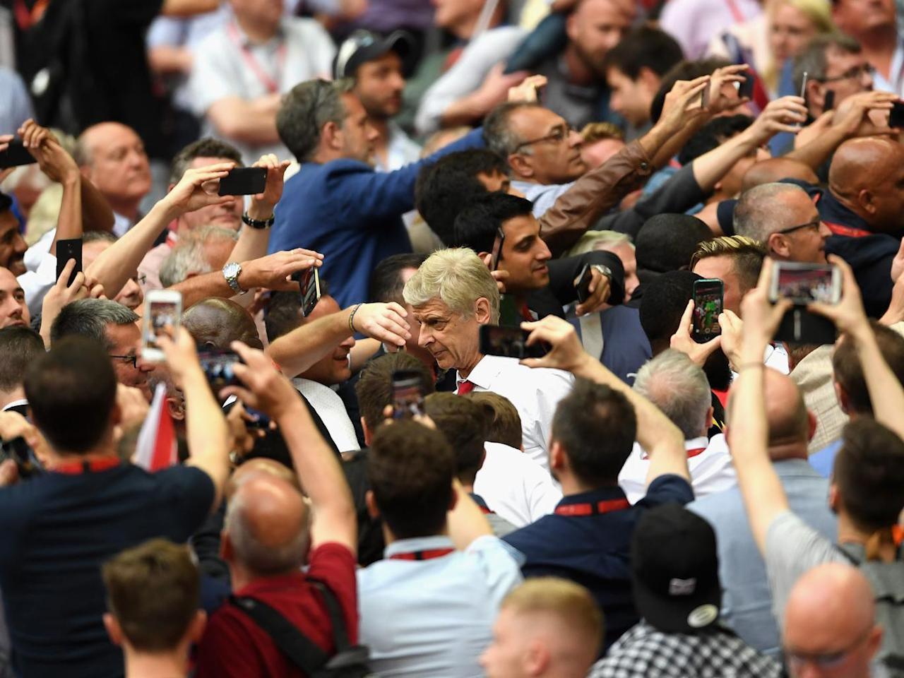 Arsene Wenger's Arsenal future remains uncertain, but he can at least enjoy himself in the present