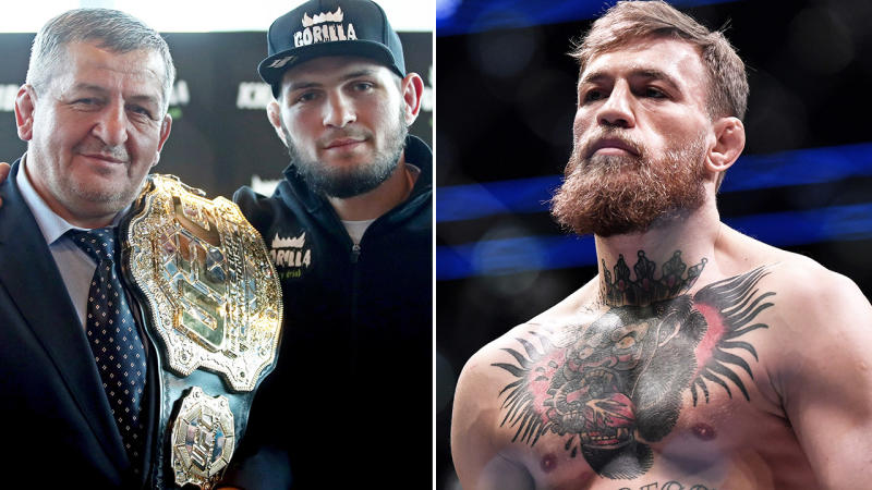 Conor McGregor and Khabib Nurmagomedov, pictured here in the UFC.