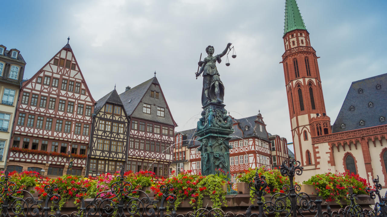 "<p>The German city along the river Main is home to stunning architecture, historic sights, a bustling Old Town, and tons of atmosphere. Make sure to visit the town's famous Sachsenhausen Cider Taverns to sip the area's signature beverage. <br /><em><a rel=""nofollow"" href=""https://www.skyscanner.net/transport/flights/lond/fran/180825/180827/?adultsv2=1&childrenv2=&cabinclass=economy&rtn=1&preferdirects=false&outboundaltsenabled=false&inboundaltsenabled=false&qp_prevProvider=ins_browse&qp_prevCurrency=GBP&priceSourceId=b3ms-UK1-4&qp_prevPrice=181#details/13554-1808250730--32090-0-11616-1808251005