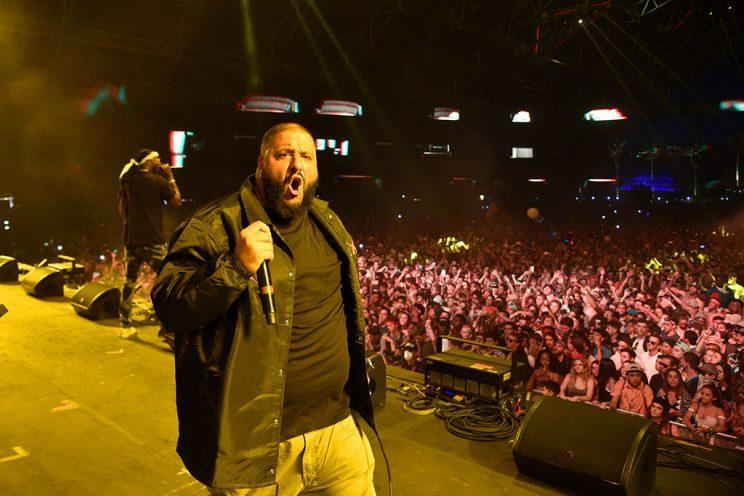 INDIO, CA – APRIL 16: DJ Khaled performs on the Sahara stage during day 3 of the Coachella Valley Music And Arts Festival (Weekend 1) at the Empire Polo Club on April 16, 2017 in Indio, California. (Photo by Kevin Mazur/Getty Images for Coachella)