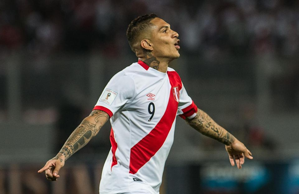 Peru captain Paolo Guerrero's World Cup hopes have been revived by a Swiss federal court. He'll be in Russia after all, after a wild suspension saga. (Getty)