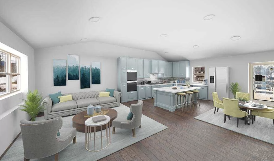 The three-bedroom home in New York is listed for roughly $A390,705.  Source: Zillow