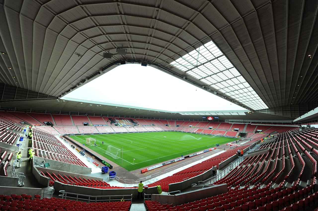 A view of the stadium before the Barclays Premier League match the Stadium of Light, Sunderland.