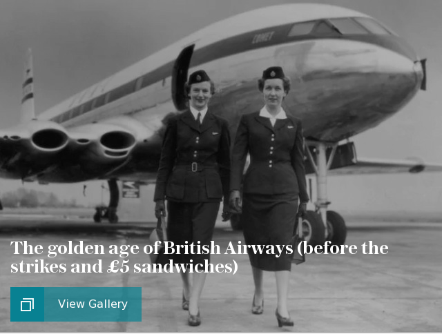 The golden age of British Airways (before the strikes and £5 sandwiches)