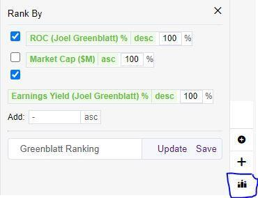 New GuruFocus Feature: Customized Rankings in the Screener
