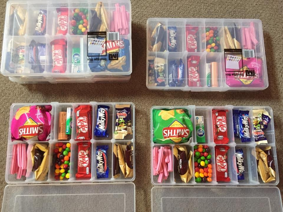 Image of Bunnings boxes with lollies chips