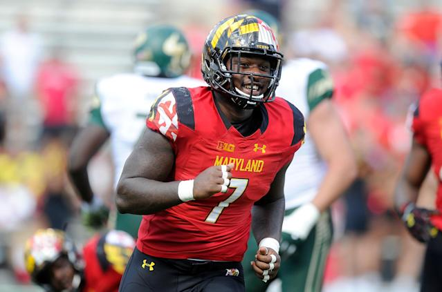 Maryland DE Yannick Ngakoue slid to the top of Round 3, which NFL draft scouts regret now. (Getty Images)