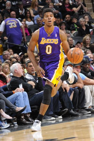 Nick Young looks out for potential trade (Getty Images).