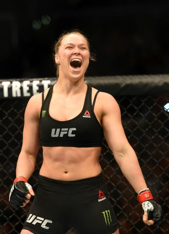 Rousey won her first 12 pro fights