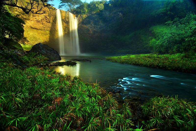 On lucky days, you'll see a waterfall. (Photo: Getty)