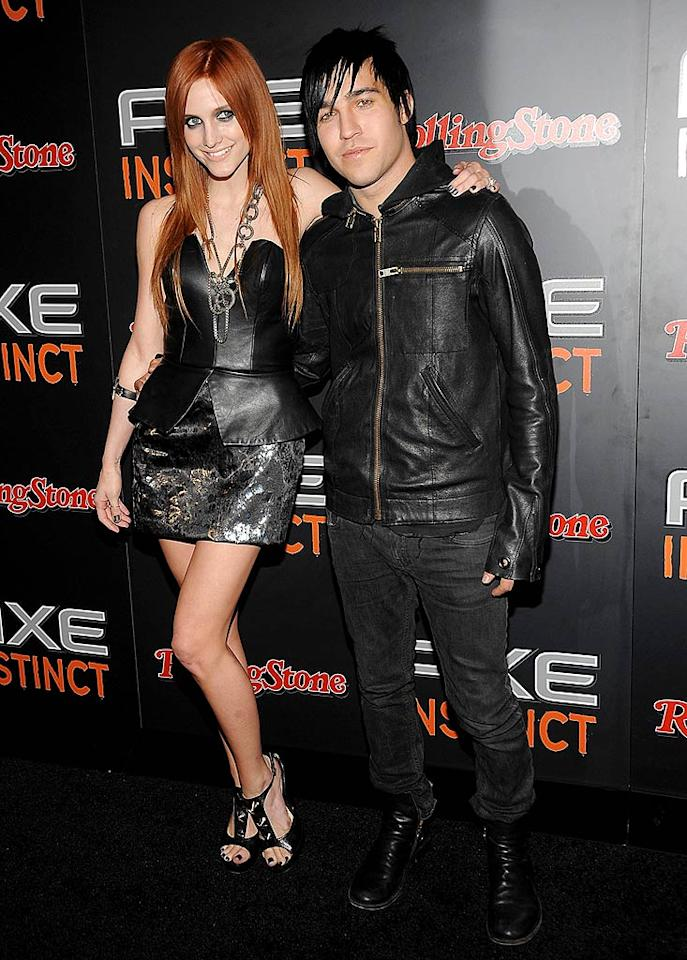 """Ashlee Simpson and Pete Wentz took the name """"Power of Leather"""" to heart when dressing for the event. Jamie McCarthy/<a href=""""http://www.gettyimages.com/"""" target=""""new"""">GettyImages.com</a> - June 24, 2009"""