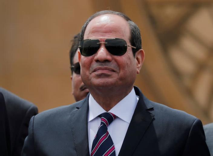 FILE PHOTO: Egyptian President Abdel Fattah al-Sisi attends the opening ceremony of floating bridges and tunnel projects executed under the Suez Canal in Ismailia