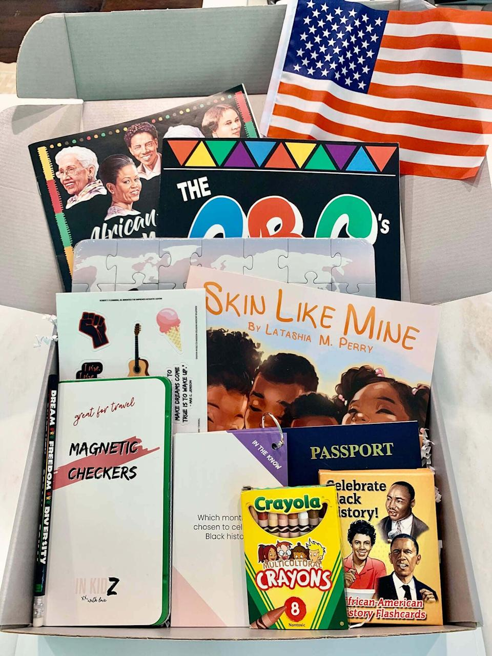 <p>Kids will spend hours parsing through all the contents of the <span>In Kidz Black History Edition Box</span> ($49), which provides rich lessons on notable people and events.</p>