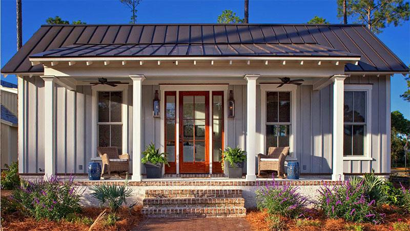"""<p>The Lowcountry-inspired Palmetto Cottage is bursting with coastal charm. It was designed with Southern hospitality in mind, featuring a welcoming front porch, an eat-in kitchen, and vaulted entertaining area that keeps the interiors feeling light and airy. </p> <p>1 bedroom, 1 bath</p> <p>656 square feet</p> <p>See plan: <a href=""""https://houseplans.southernliving.com/plans/SL2009?index=2&search%5Bplan%5D=2009&search%5Butf8%5D=✓"""" rel=""""nofollow noopener"""" target=""""_blank"""" data-ylk=""""slk:Palmetto Cottage (SL-2009)"""" class=""""link rapid-noclick-resp"""">Palmetto Cottage (SL-2009)</a></p>"""