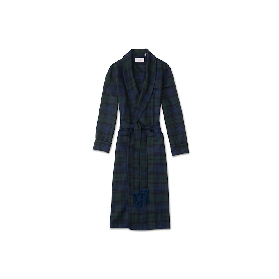 """<p>A great gift idea for any man on your holiday shopping list, this Derek Rose wool robe in classic tartan check design features a classic tasseled belt for a gentleman's approach to sleepwear.</p> <p><strong>Buy now:</strong> Derek Rose robe, $700, <a rel=""""nofollow"""" href=""""https://www.derek-rose.com/us/men/clothing/mens-robes/mens-classic-dressing-gown-tartan-pure-wool-black-watch.html"""">derek-rose.com</a>.</p>"""
