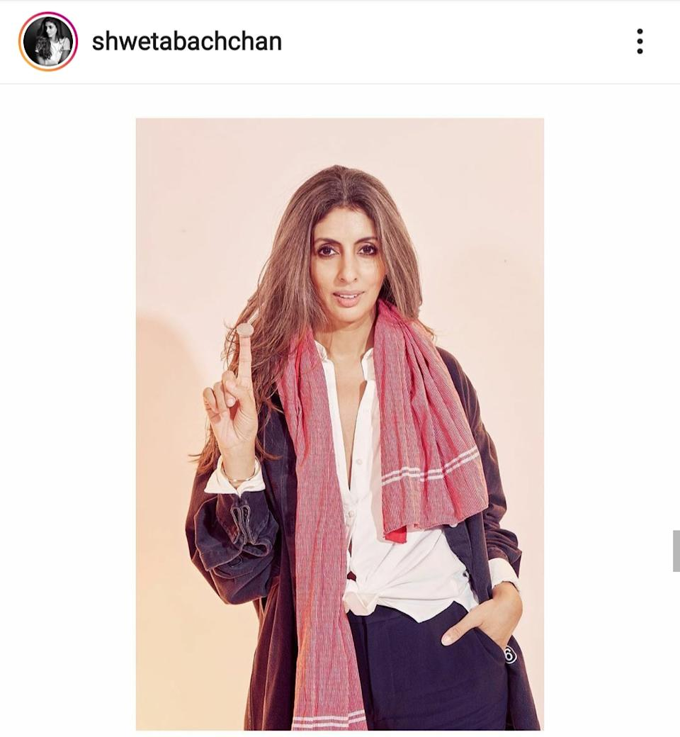 """Born in a family of stars, married to an industrialist at a fairly young age, Shweta Bachchan evaded the limelight for years. Strangely enough though, she has emerged as a sought after celeb-figure in recent years. She is on magazines, walking ramps, """"news"""" related to her has started doing rounds of the interwebs, and we seriously don't get why! Sure, she is sister of a working actor, Abhishek Bachchan and sister-in-law of <em><strong>the </strong></em>Aishwarya Rai Bachchan, but, why is she famous again?"""