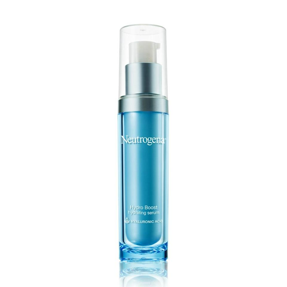 """""""Many of my adult female patients with acne also suffer from dryness,"""" says Zeichner. """"Plus, many acne medications can dry out the skin. A light, hydrating serum can be useful even if you have acne. Neutrogena Hydroboost Serum delivers hyaluronic acid to the skin to draw in water to hydrate and plump the outer skin layer."""""""