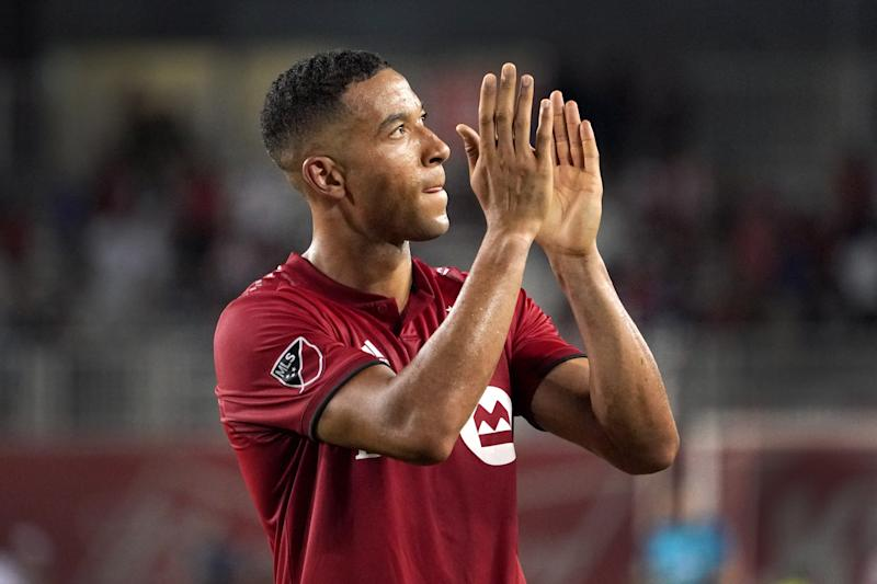 Toronto FC defender Justin Morrow is one of more than 70 members of MLS's first Black Players Coalition. Morrow will serve as the organization's executive director. (Jeff Chevrier/Getty Images)