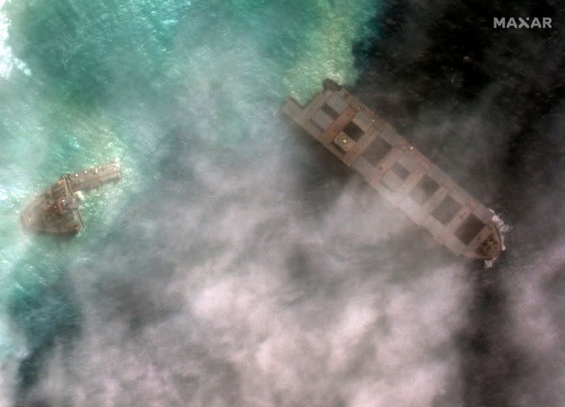 Mauritius arrests captain of stricken Japanese oil tanker